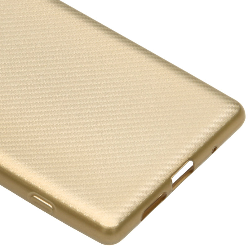 Carbon Softcase Backcover Sony Xperia 1 - Goud