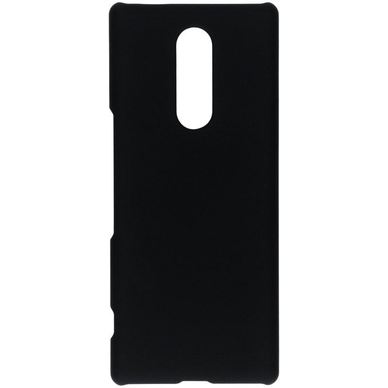 Effen Backcover Sony Xperia 1 - Zwart