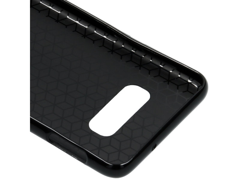 Samsung Galaxy S10e hoesje - Carbon Softcase Backcover voor