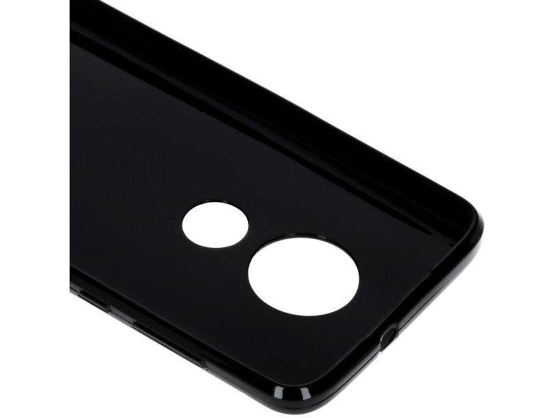 S-line Backcover voor de Motorola Moto G7 / G7 Plus - Zwart