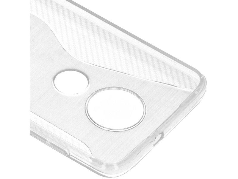 S-line Backcover voor de Motorola Moto G7 / G7 Plus - Transparant