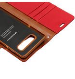 Mercury Goospery Canvas Diary Booktype voor de Samsung Galaxy S10 Plus - Rood