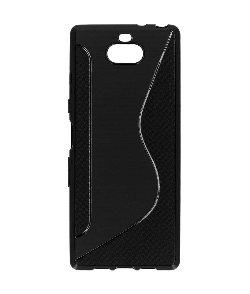 S-line Backcover Sony Xperia 10 - Zwart