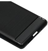 Brushed Backcover voor de Sony Xperia 1 - Zwart