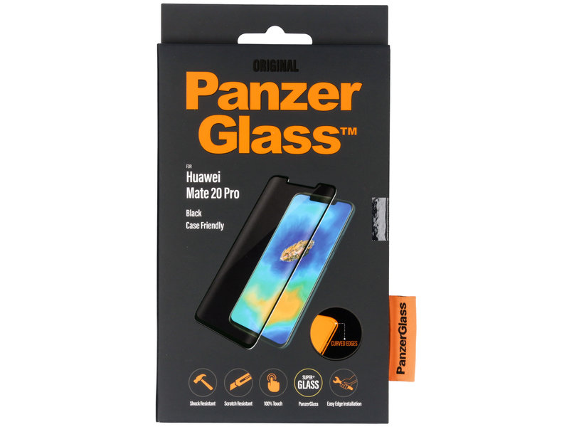 PanzerGlass Case Friendly Screenprotector voor de Huawei Mate 20 Pro - Zwart