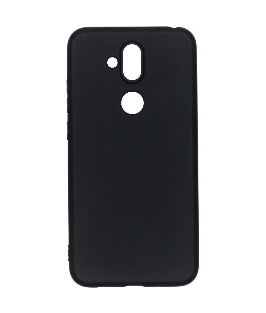 Color Backcover Nokia 8.1 - Zwart
