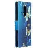 Design Softcase Booktype voor de Sony Xperia 1 - Vlinders
