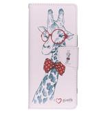 Design Softcase Booktype voor de Sony Xperia 1 - Giraffe