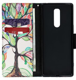 Design Softcase Booktype voor de Sony Xperia 1 - Tree