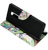 Design Softcase Booktype voor de Sony Xperia 1 - Gekleurde boom