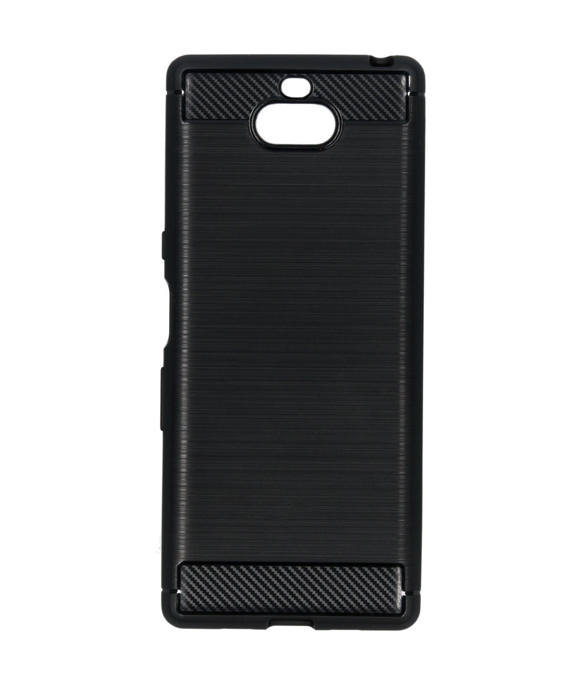Brushed Backcover Sony Xperia 10 - Zwart