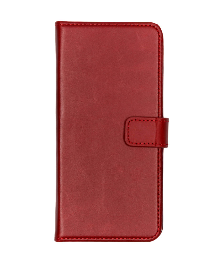Selencia Echt Lederen Booktype Samsung Galaxy S10 Plus - Rood