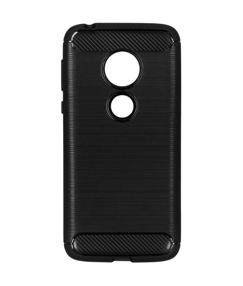 Brushed Backcover Motorola Moto G7 Play - Zwart