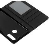 Luxe Lederen Booktype voor de Huawei P30 Lite - Grijs