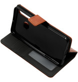 Luxe Lederen Booktype voor de Huawei P30 Lite - Bruin