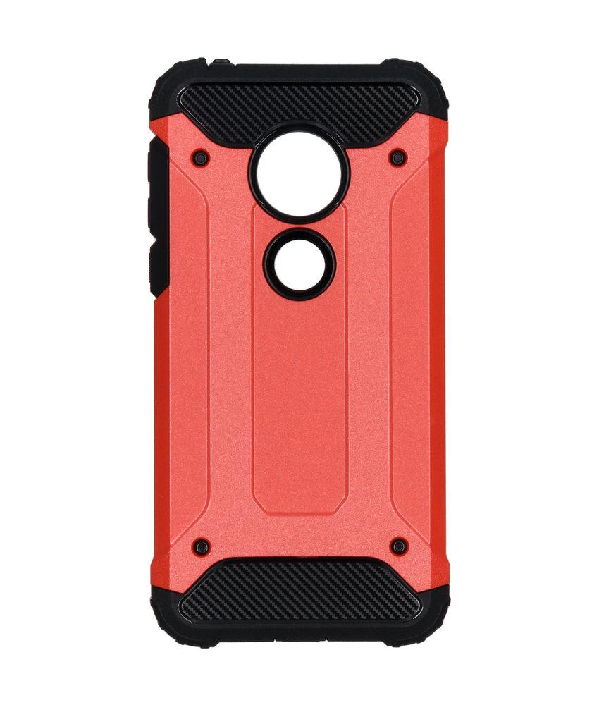 Rugged Xtreme Backcover Motorola Moto G7 Play - Rood