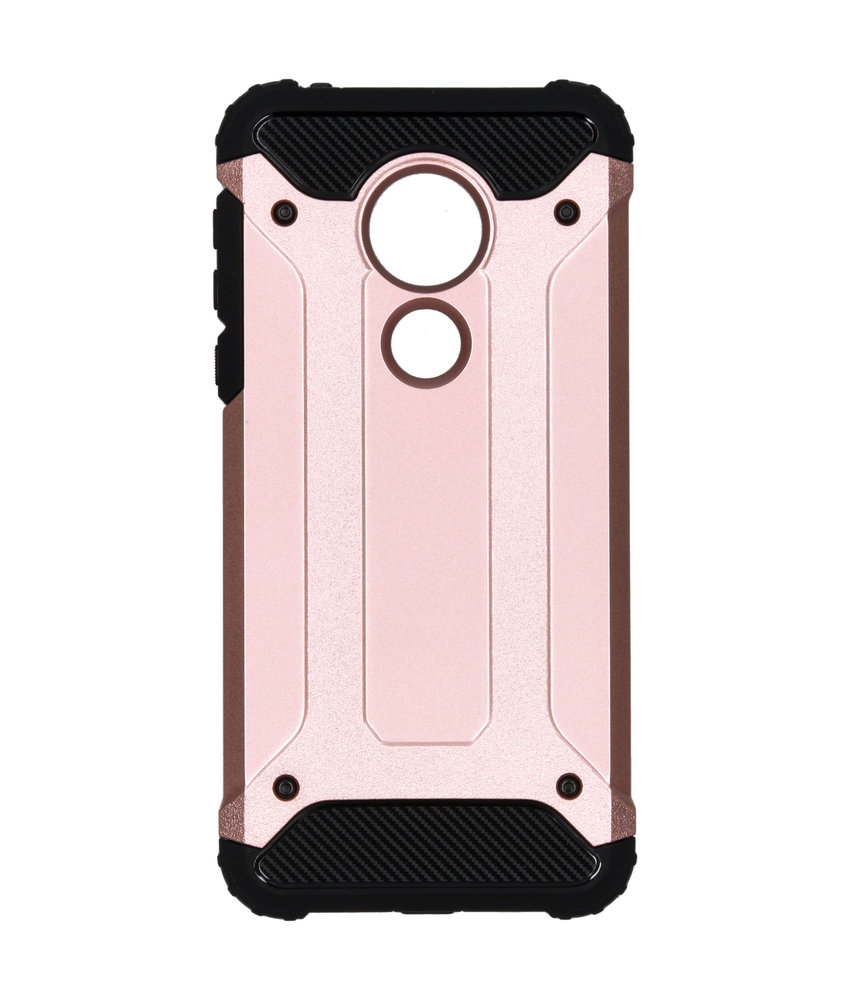 Rugged Xtreme Backcover Motorola Moto G7 Power - Rosé Goud