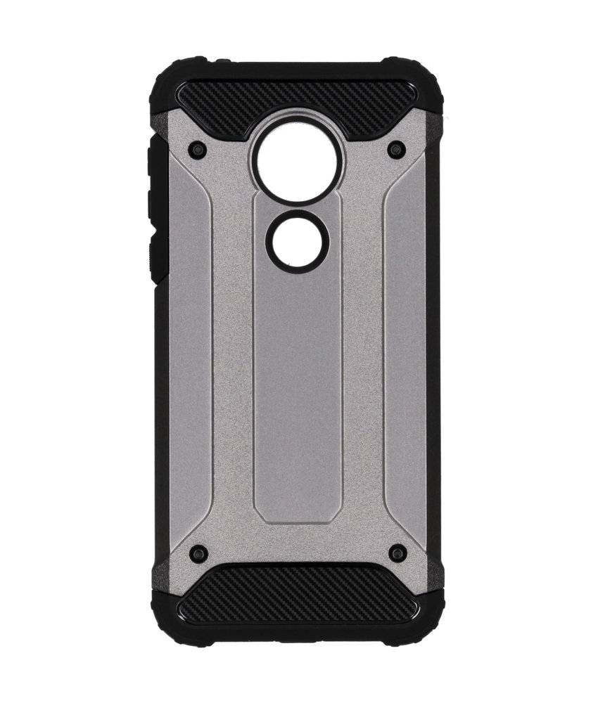 Rugged Xtreme Backcover Motorola Moto G7 Power - Grijs