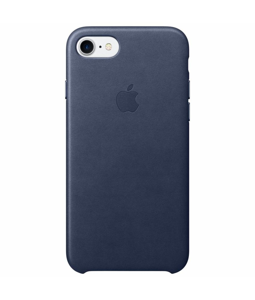 Apple Leather Backcover iPhone 8 / 7 - Donkerblauw