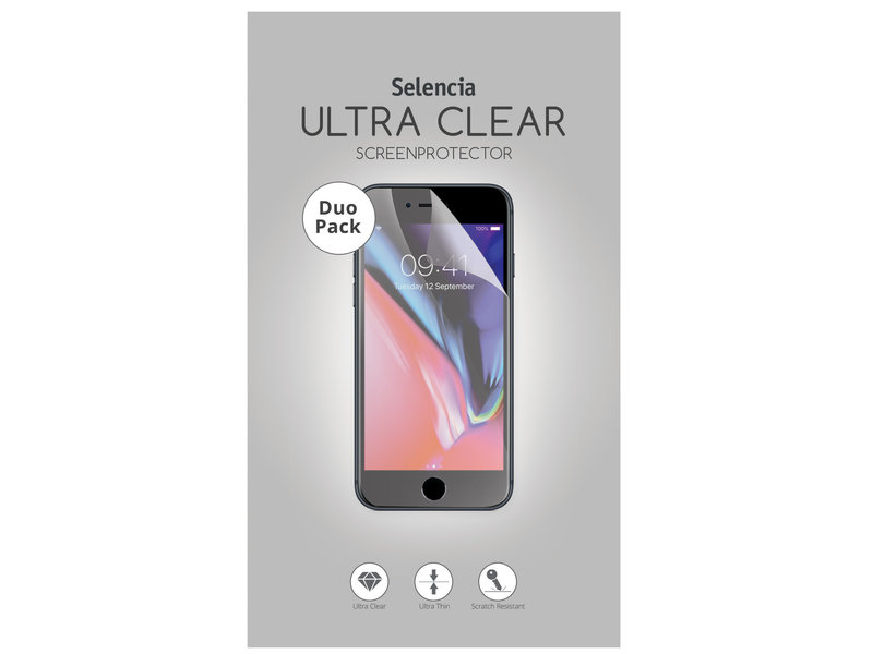 Selencia Duo Pack Ultra Clear Screenprotector voor de Samsung Galaxy J4 Plus / J6 Plus