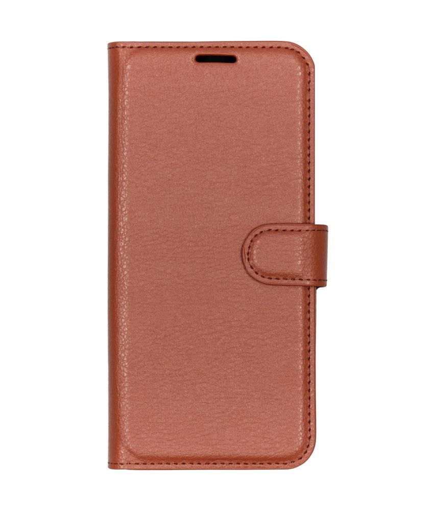 Basic Litchi Booktype Motorola Moto G7 / G7 Plus - Bruin