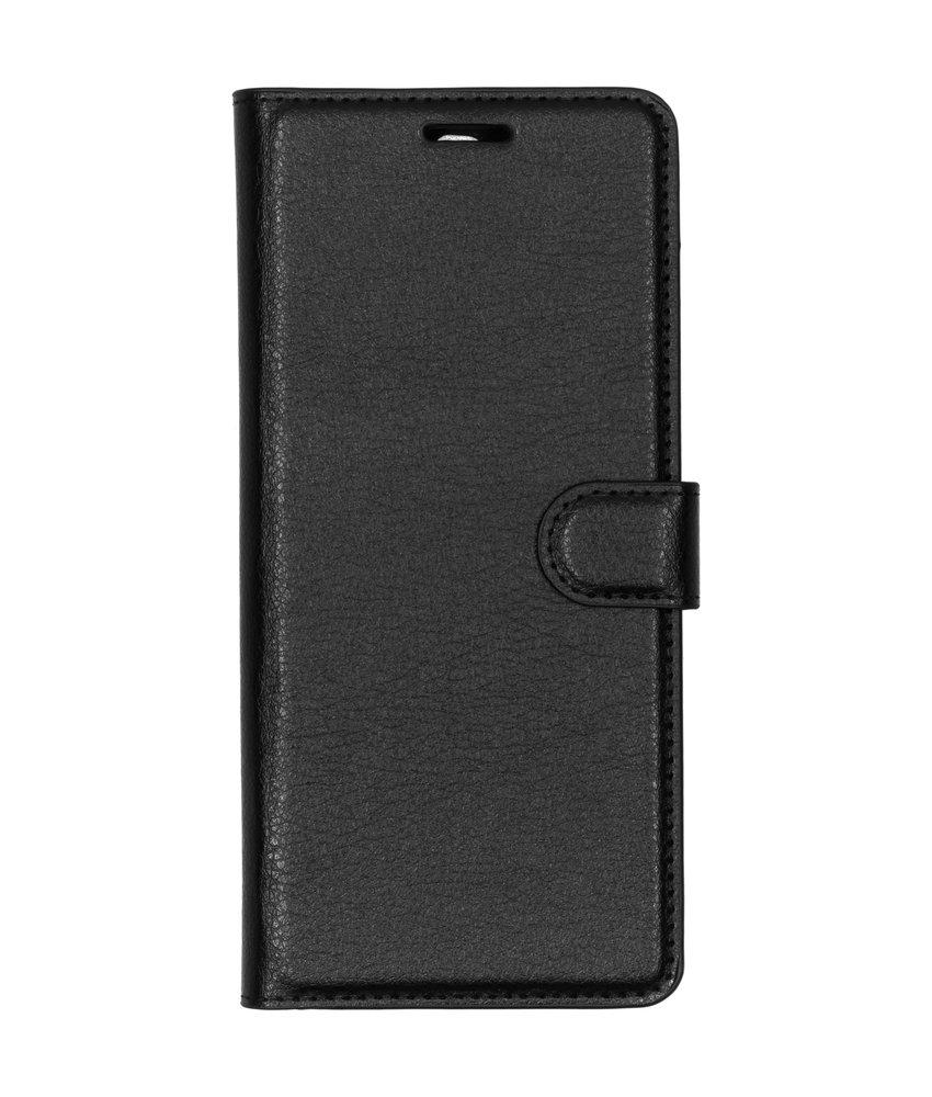 Basic Litchi Booktype Sony Xperia 10 Plus - Zwart
