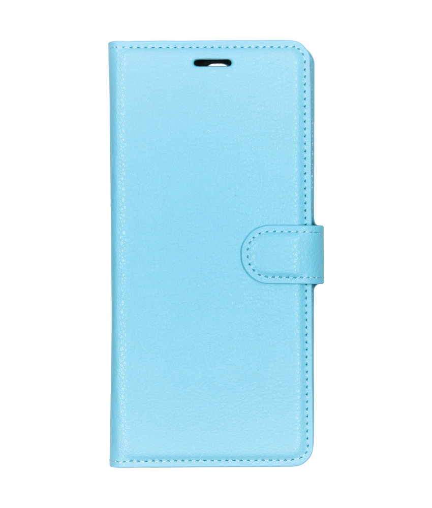 Basic Litchi Booktype Sony Xperia 10 Plus - Blauw