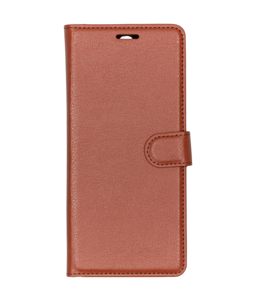 Basic Litchi Booktype Sony Xperia 10 Plus - Bruin