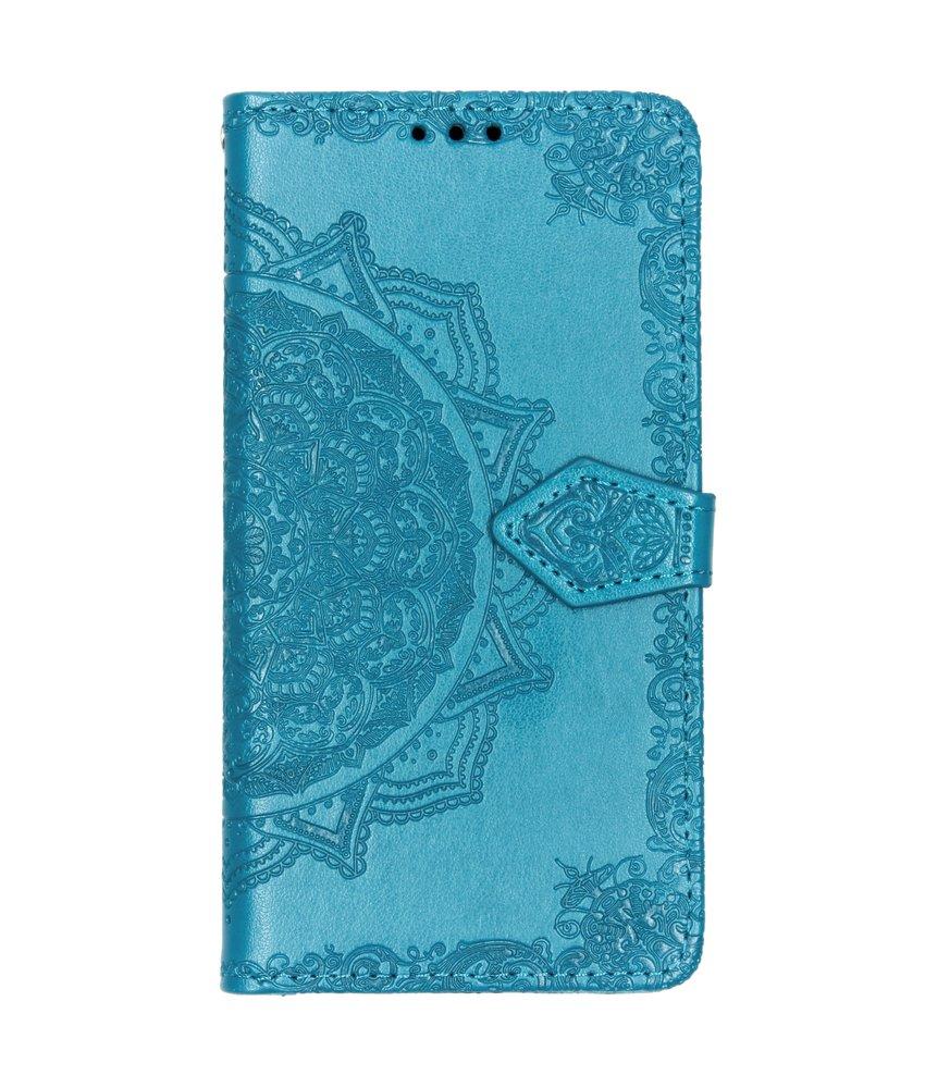 Mandala Booktype Motorola Moto G7 Play - Turquoise