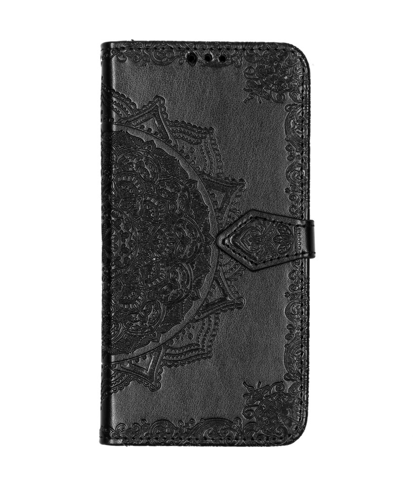 Mandala Booktype Samsung Galaxy A50 - Zwart