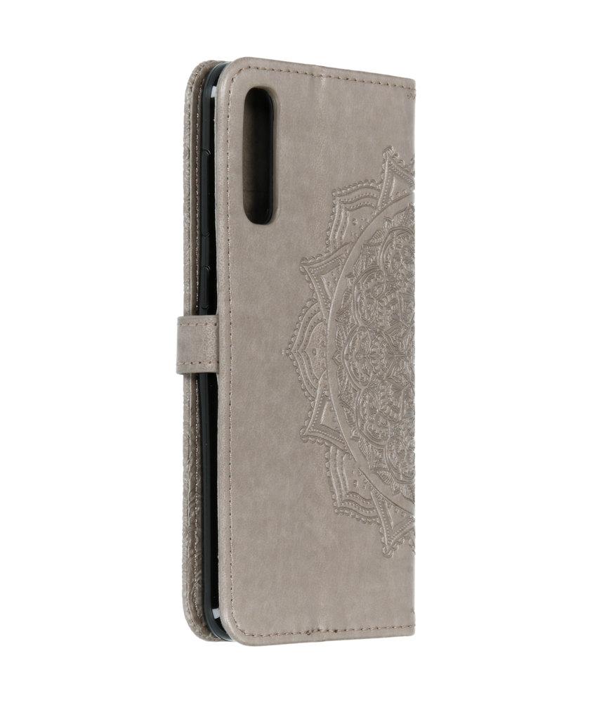 Mandala Booktype Samsung Galaxy A50 - Grijs