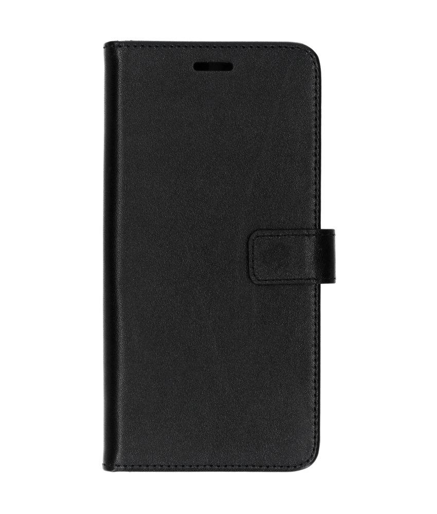 Valenta Leather Booktype Samsung Galaxy A9 (2018) - Zwart