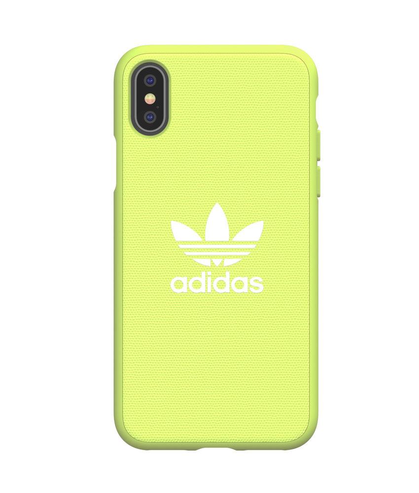 adidas Originals Adicolor Backcover iPhone Xs / X - Neon Geel