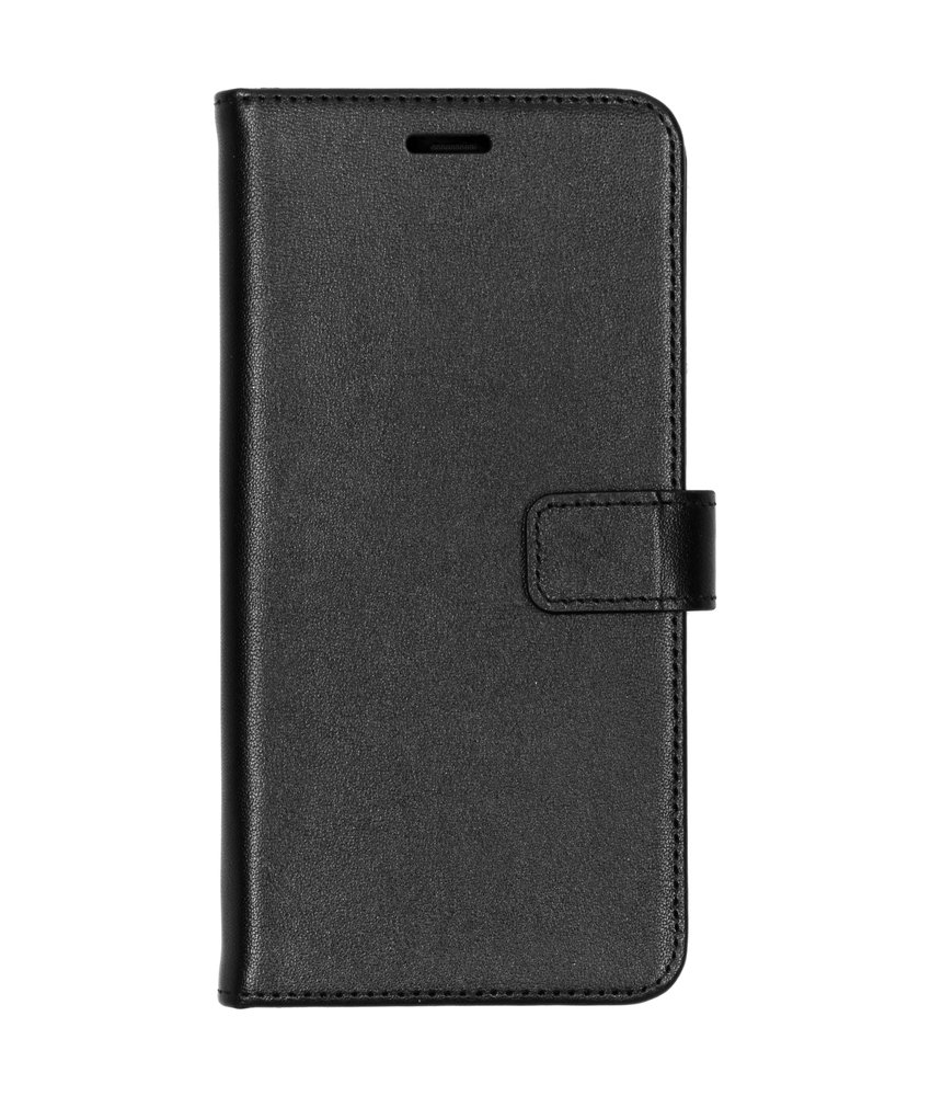 Valenta Leather Booktype Samsung Galaxy A7 (2018) - Zwart