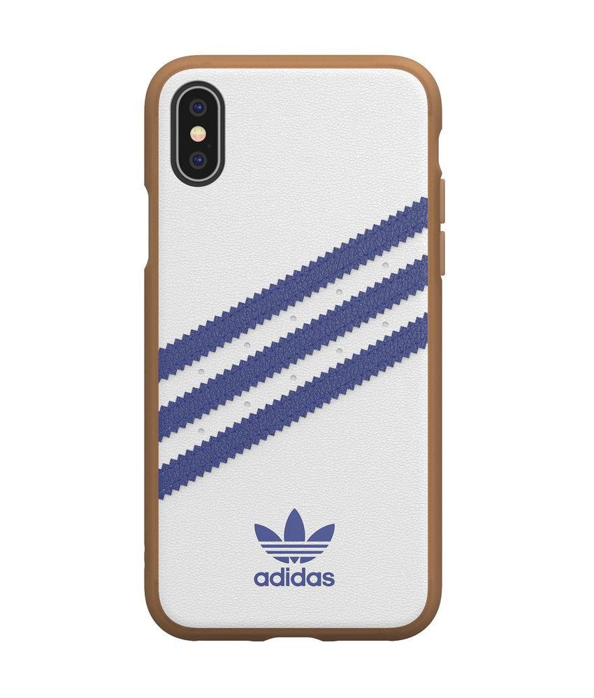 adidas Originals Samba Backcover iPhone Xs / X - Wit / Blauw