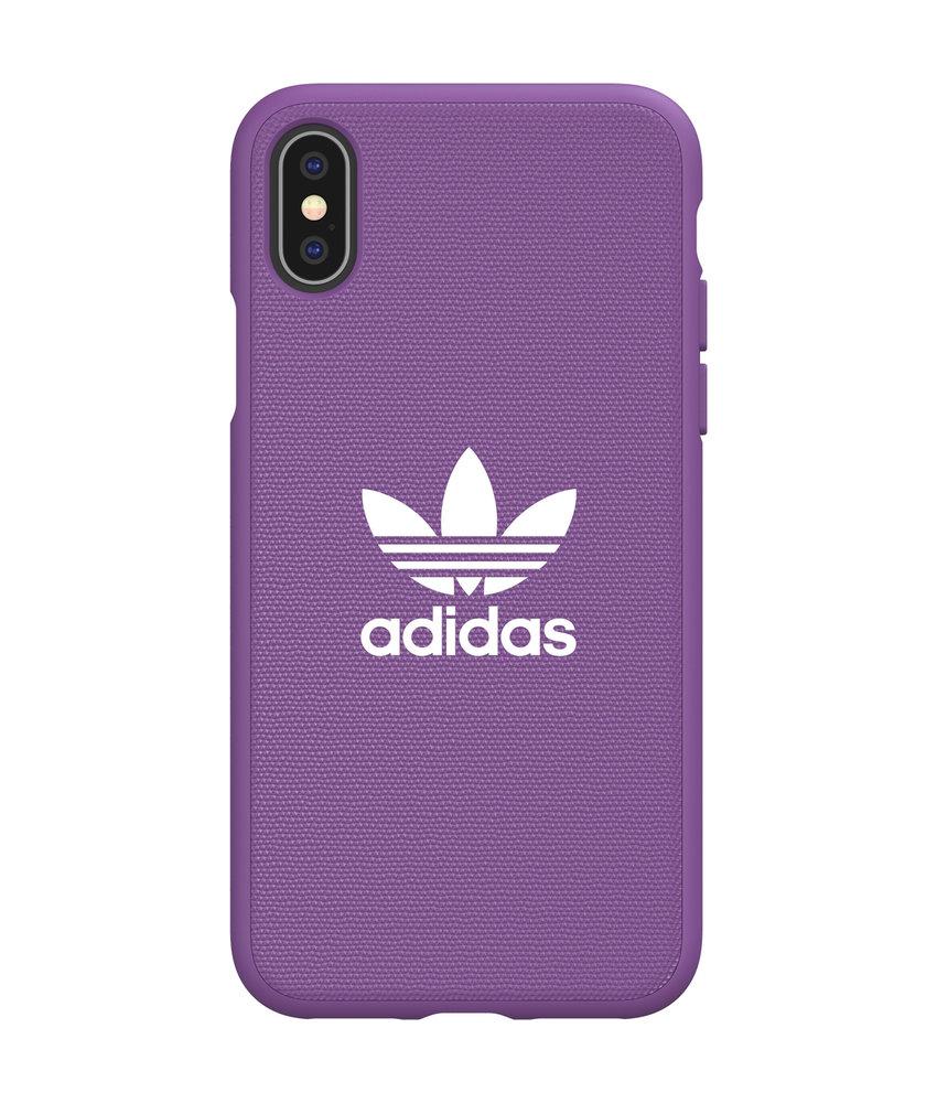 adidas Originals Adicolor Backcover iPhone X / Xs - Paars