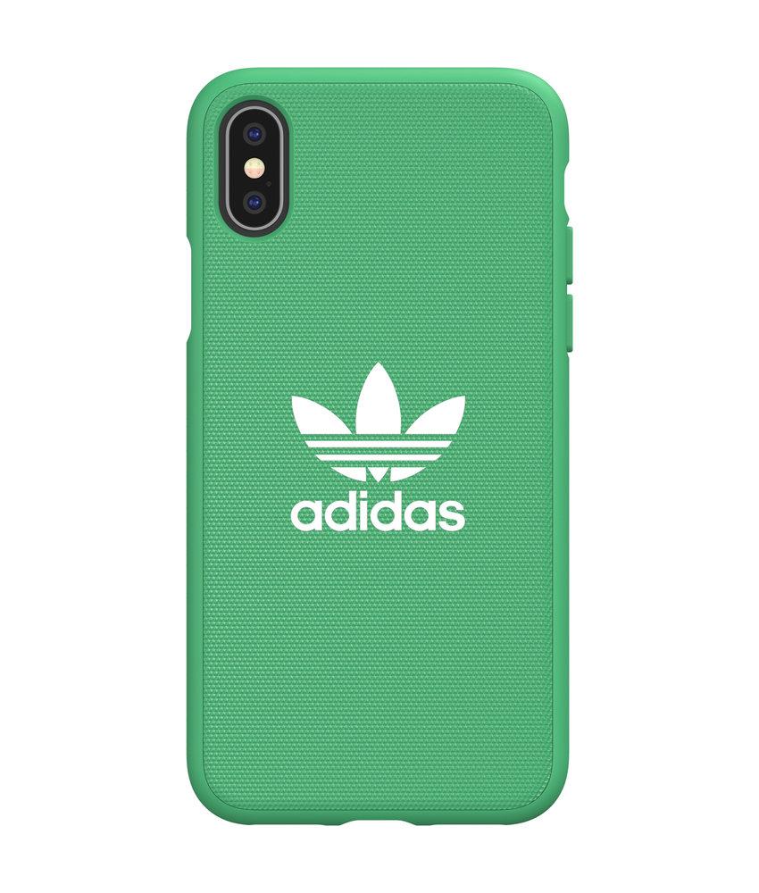 adidas Originals Adicolor Backcover iPhone X / Xs - Groen