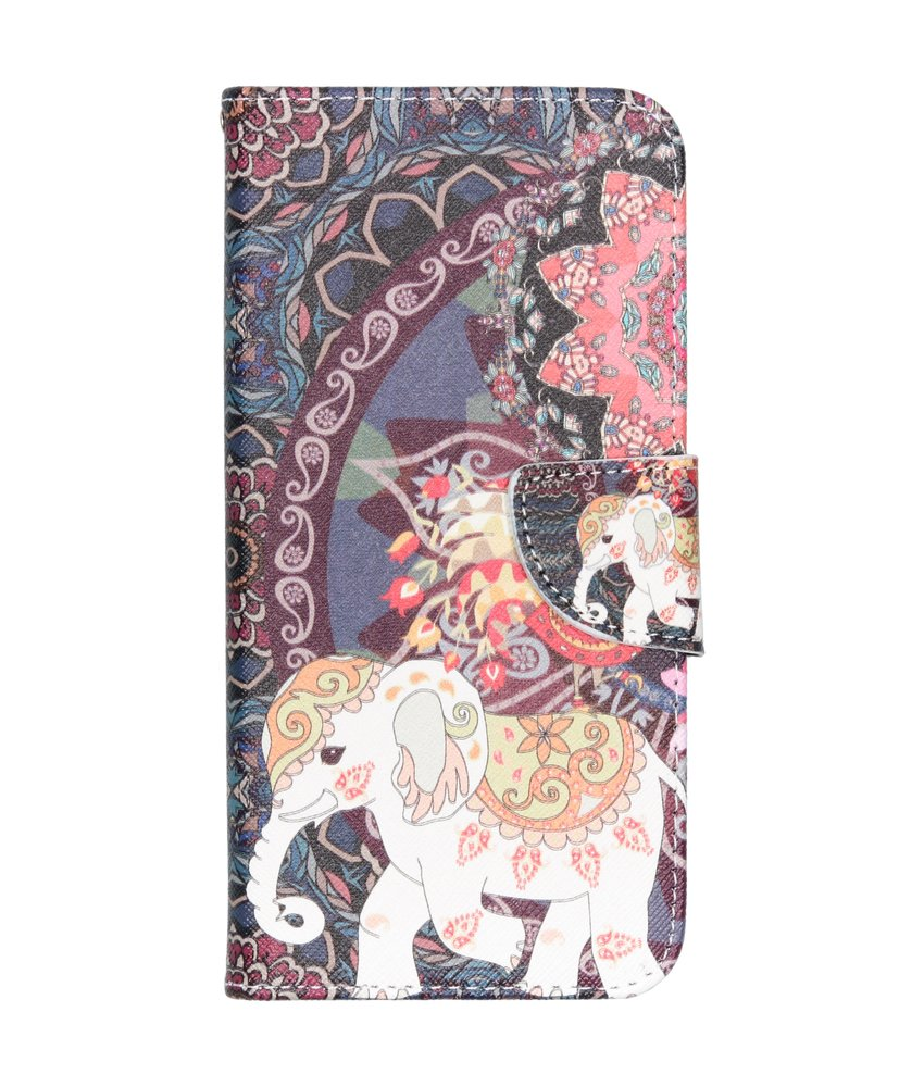 Design Softcase Booktype Samsung Galaxy A50 - Olifant