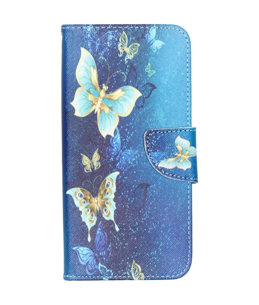 Design Softcase Booktype Samsung Galaxy A50 - Vlinders
