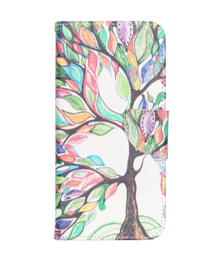 Design Softcase Booktype Samsung Galaxy A50 - Gekleurde boom