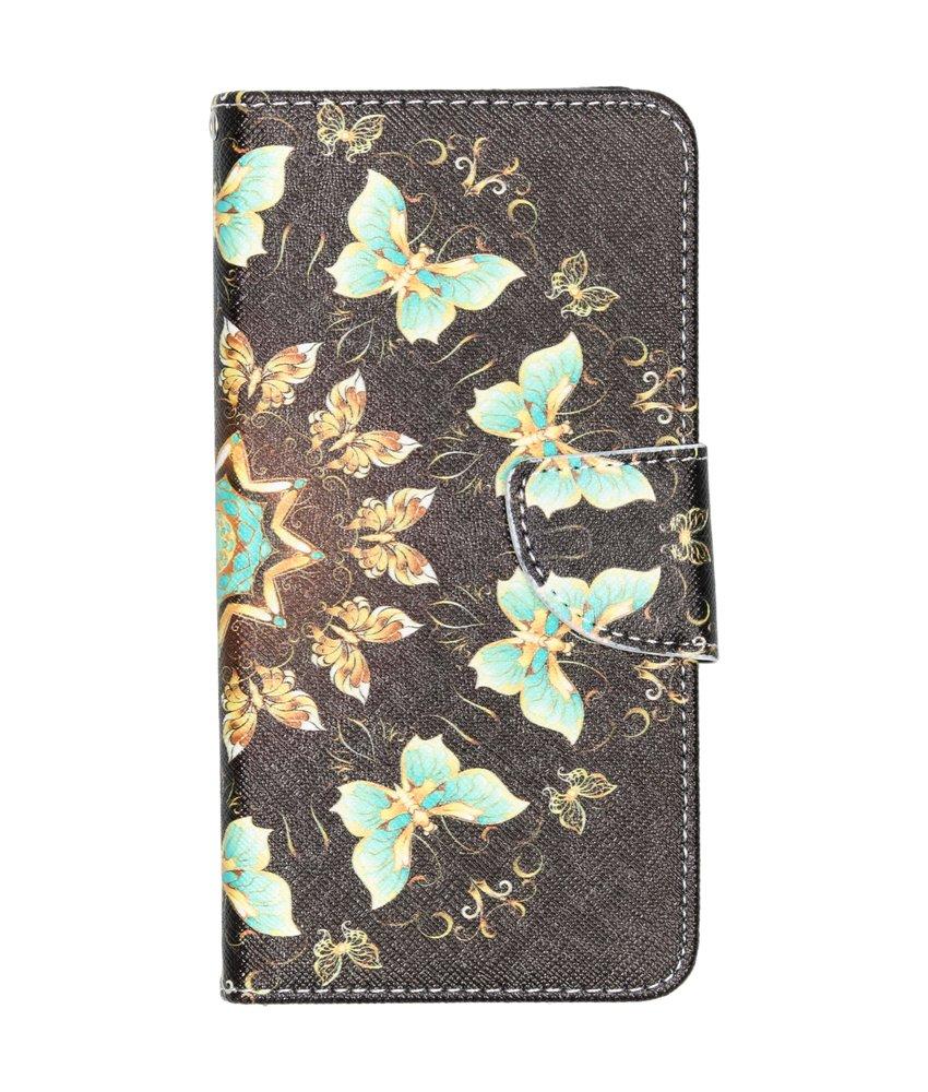 Design Softcase Booktype Samsung Galaxy A40 - Zwarte vlinder