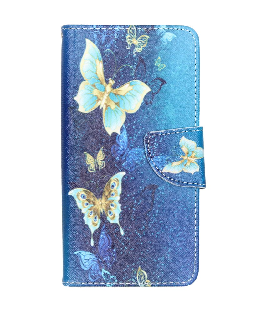 Design Softcase Booktype Samsung Galaxy A40 - Vlinders