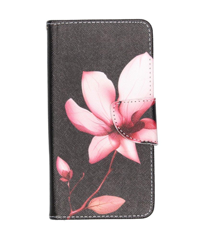 Design Softcase Booktype Samsung Galaxy A40 - Bloemen