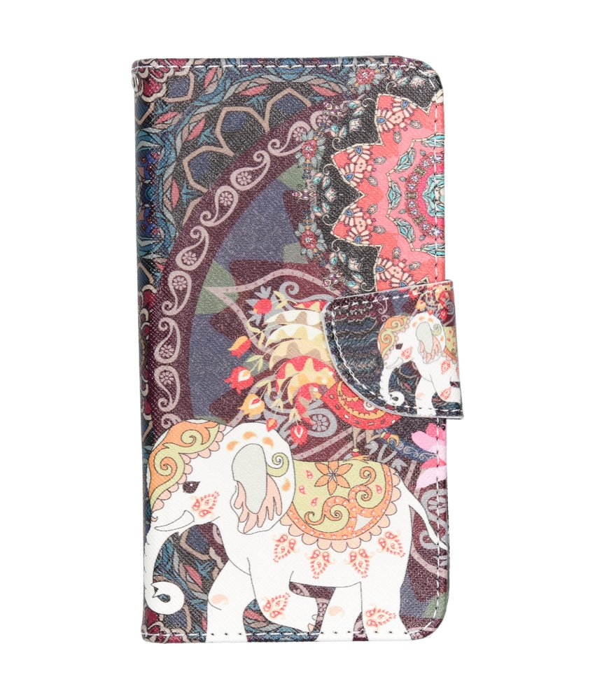 Design Softcase Booktype Samsung Galaxy A40 - Olifant