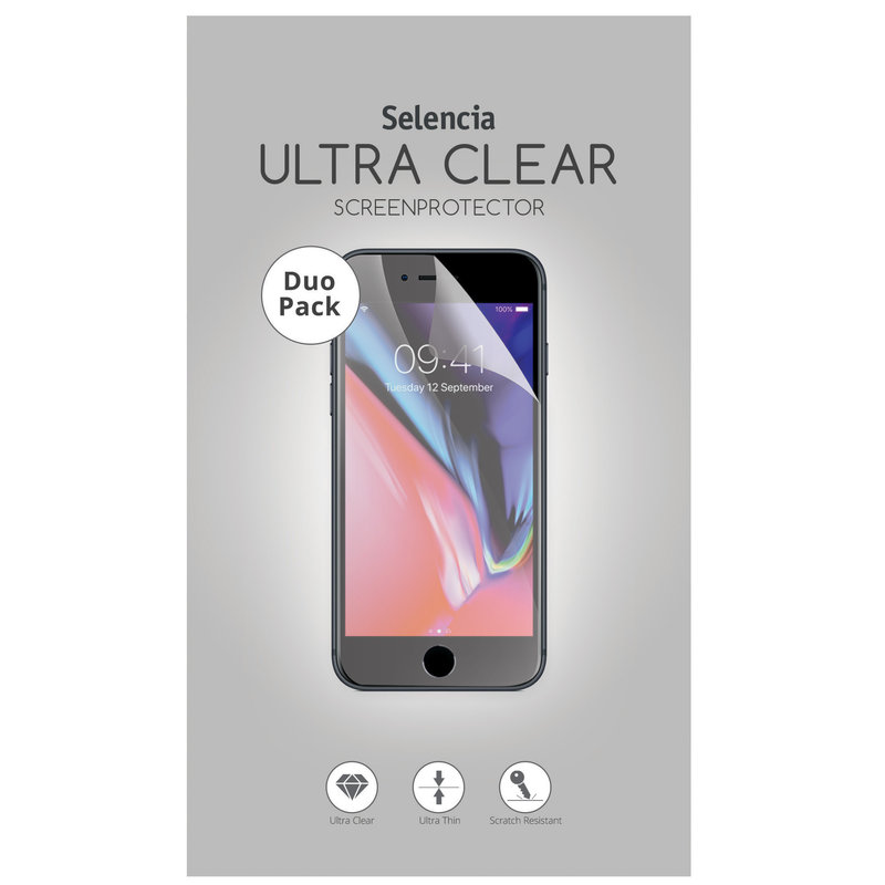 Selencia Duo Pack Ultra Clear Screenprotector Samsung Galaxy A8 (2018)