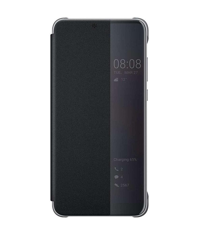 Huawei Smart View Flip Case Huawei P30 - Zwart