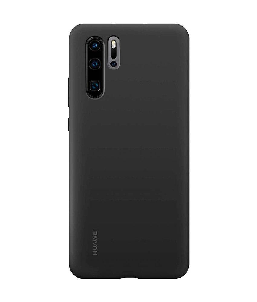 Huawei Silicone Backcover Huawei P30 Pro - Zwart