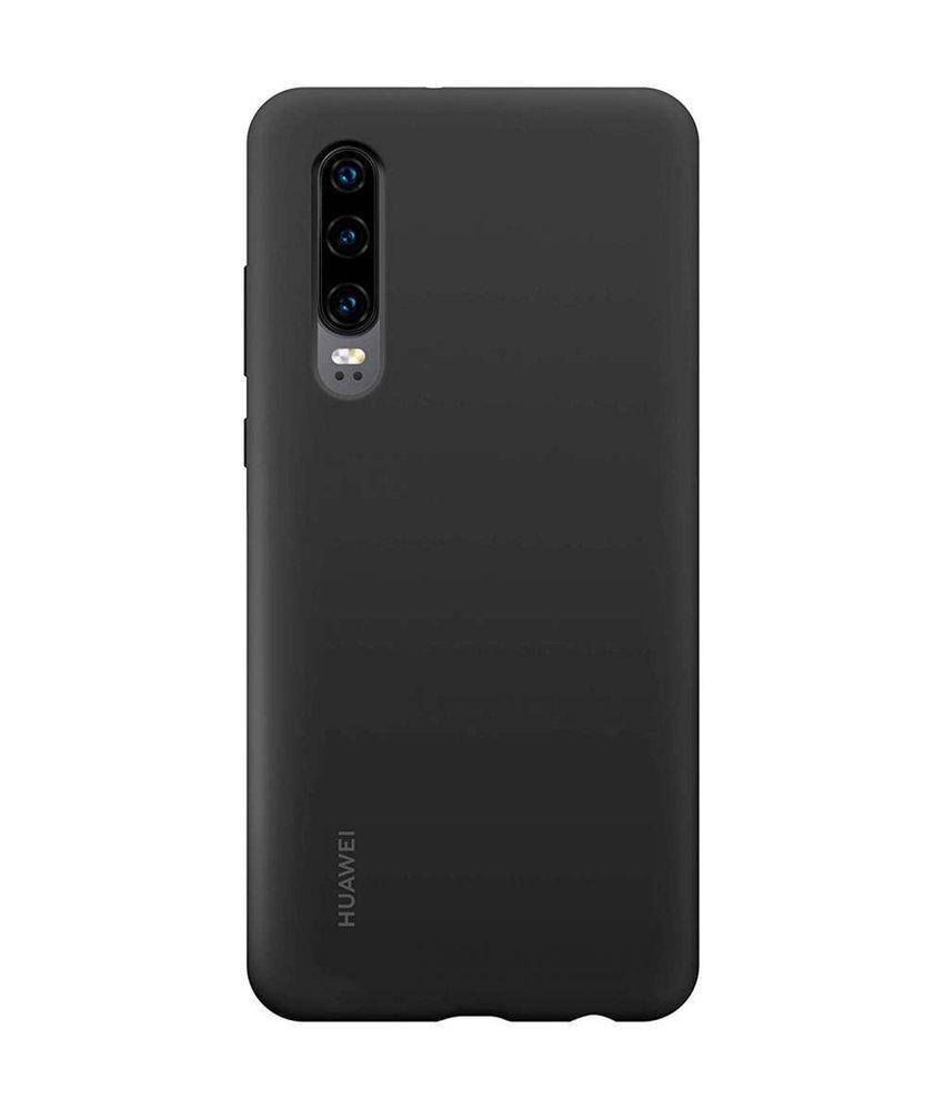 Huawei Silicone Backcover Huawei P30 - Zwart