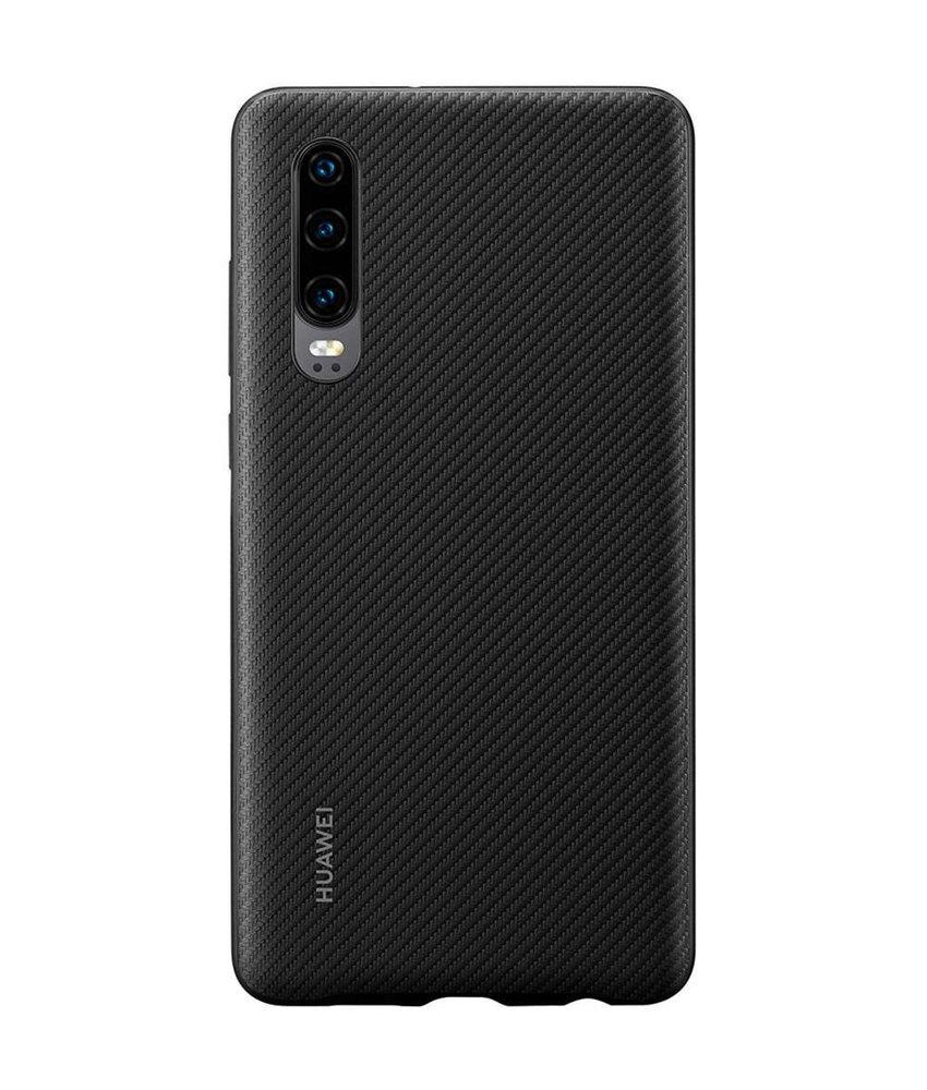 Huawei Hardcase Backcover Huawei P30 - Zwart Carbon