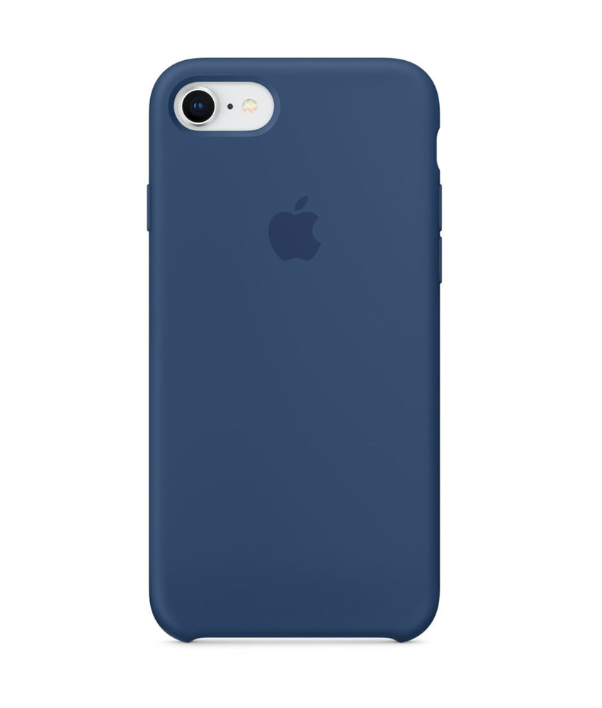 Apple Silicone Backcover iPhone 8 / 7 - Blue Cobalt